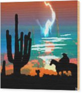 Arizona Skies Wood Print