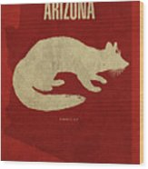 Arizona State Facts Minimalist Movie Poster Art Wood Print