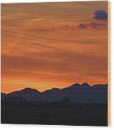 Arizona Sunset 12 Wood Print