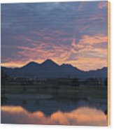 Arizona Sunset 2 Wood Print