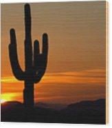 Arizona Sunset 3 Wood Print