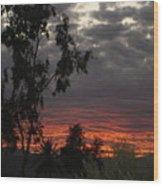 Arizona Sunset II Wood Print