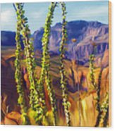 Arizona Superstition Mountains Wood Print