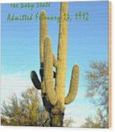 Arizona The Baby State Wood Print