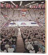 Arizona Wildcats White Out At Mckale Center Wood Print