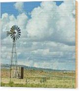 Arizona Windmill Wood Print