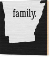 Arkansas Cool Gift Family State Shirt Light Wood Print