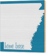 Arkansas Is Home Base White Wood Print