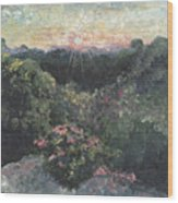 Arkansas Mountain Sunset Wood Print