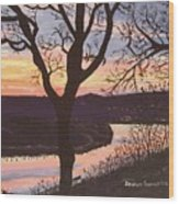 Arkansas River Sunset Wood Print