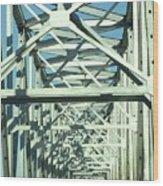 Arkansas Side Of Helena Bridge 1 Wood Print