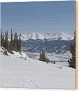 Arkansas Valley From Mount Elbert Colorado In Winter Wood Print