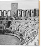 Arles Amphitheater A Roman Arena In Arles - France - C 1929 Wood Print
