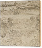 Arles View From The Wheatfields Wood Print