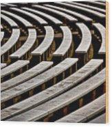 Arlington Cemetery Amphitheater Benches #2 Wood Print