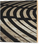 Arlington Cemetery Amphitheater Benches Wood Print