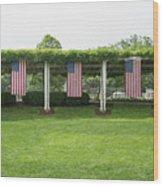 Arlington Flags Wood Print