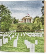 Arlington House Half Mast  Wood Print