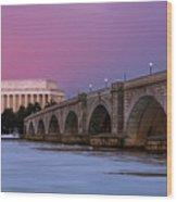 Arlington Memorial Bridge Wood Print