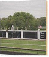 Arlington Park Race Track Wood Print