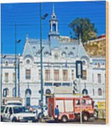 Armada De Chile In Valparaiso-chile  Wood Print