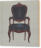 Armchair Wood Print