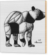 Armored Bear Wood Print