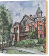 Armstrong Mansion Wood Print