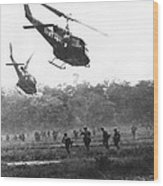 Army Airborne In Vietnam Wood Print