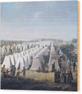Army Camp In Rows  Wood Print