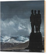 Army Commando Memorial  Wood Print