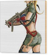 Army Girl B Wood Print