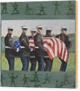 Army Men Wood Print