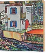 Arneson Theatre In Blues Wood Print