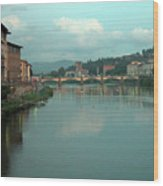 Arno River, Florence, Italy Wood Print by Mark Czerniec