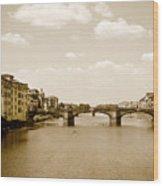 Arno River Florence Wood Print