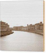 Arno River In Pisa Wood Print