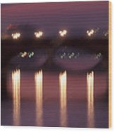 Arno River Reflections Wood Print