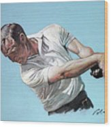 Arnold Palmer- The King Wood Print