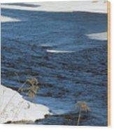 Aroostook River Below The Dam Wood Print