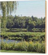 Aroostook River Landscape Wood Print