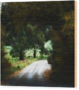 Around The Corner Wood Print
