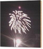 Around The Fourth Fireworks Xiii Wood Print