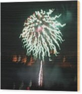 Around The Fourth Fireworks Xv Wood Print