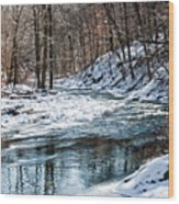 Around The Snow Bend Wood Print