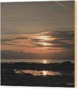 Arran Sunset Wood Print
