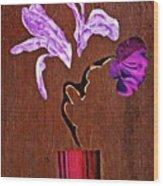 Arrangement In Purple Wood Print
