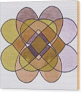 Arrangement Of Forms Wood Print