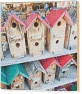 Array Of Handmade Birdhouses For Sale Wood Print