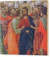Arrest Of Christ Fragment 1311 Wood Print